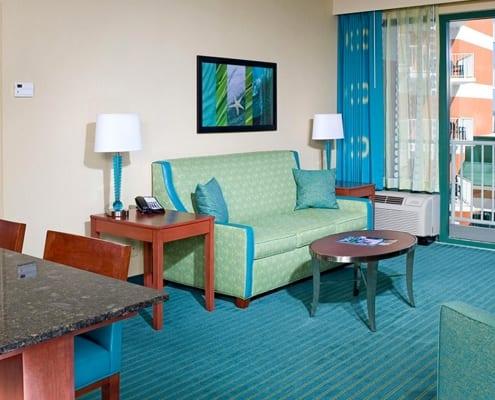 Virginia Beach hotel - deluxe oceanfront queen bed suite