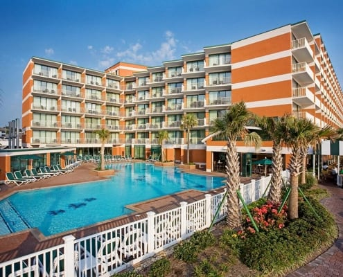 Virginia Beach hotel - Holiday Inn and Suites boardwalk view