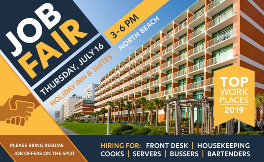 Help Wanted - Job Fair - Virginia Beach Hotel & restaurants