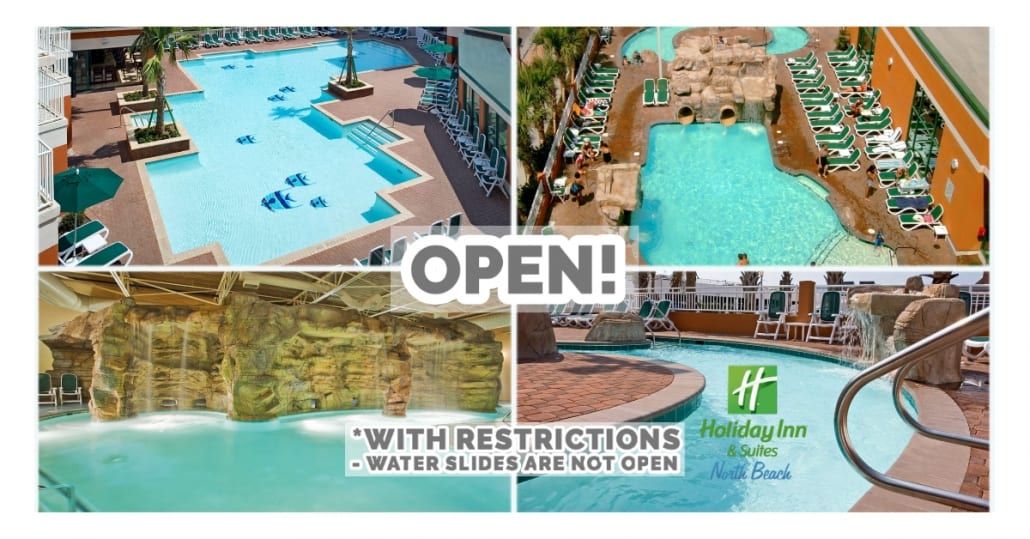 Open Now All Pools Splash Kamp Movie Theater And Fitness Center Virginia Beach Oceanfront Hotel