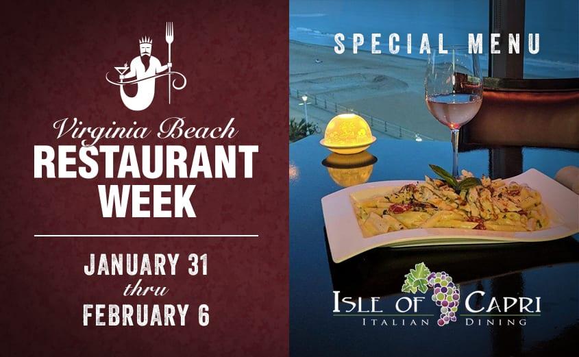 Virginia Beach Restaurant Week 2021 | Isle of Capri